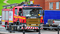 Call out for Merseyside Fire & Rescue Service (sab89) Tags: rescue out fire call d engine birkenhead 94 service hbo scania 260 merseyside dk05 dk05hbo