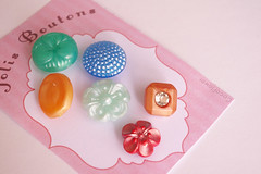 Vintage retro buttons (Coco_Flower) Tags: old glass vintage scrapbooking handmade buttons sewing craft retro collection button pearl collectible multicolored antic nacre galss