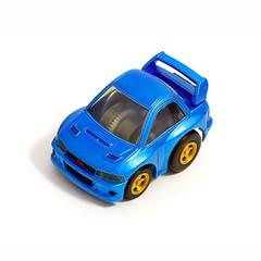 Subaru Impreza STi 22B (McSim) Tags: blue scale car japan toy coin model subaru impreza wrx sti takara coupe tomy jdm sportcar choroq 22b