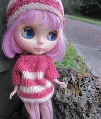 Mel in knitted blythe set
