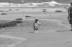 Granda, Come On... (karllaundon) Tags: family sea summer sun cute beach fun happy seaside day child laugh northeast rockpool redcar