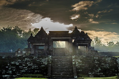 The Gate of Ratu Boko Temple - Abraham Mudito  2014 (abraham mudito) Tags: architecture indonesia temple ancient over just enjoy yogyakarta nevermind edit ratu boko