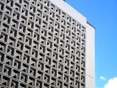 light blue sky (tamasmatusik) Tags: architecture modernarchitecture trier építészet treves blue sky bulding modern lines geometric abstract minimalism bluesky