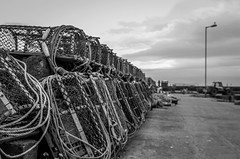 Lobster cages (crcmuir) Tags: bw scotland bwphotography gourdon