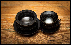 Air Ministry 5 inch & 8 inch Large Format Lens (Lens Bubbles) Tags: inch 5 air ministry large 8 aerial format f56 f4 lenses