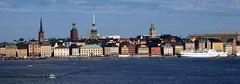 Stockholm Panoramic waterfront (saxonfenken) Tags: stockholm 6956city 6956 june2014 panoramic skyline waterfront ship ferry thechallengefactory pregamewinner bannerwinneryourock thumbsup panorama yourock gamewinner perpetual friendlychallenges