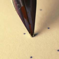 Rotring 600 Medium nib with Sailor Apricot ink - macro close up video (ZekaG) Tags: rotring600
