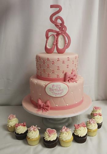 Ballerina Cupcakes & Cake
