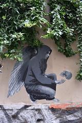 To be or not to be (HBA_JIJO) Tags: urban streetart paris france pasteup art collage angel painting paper skull stencil wheatpaste pochoir ender hbajijo