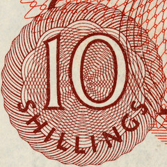 10 shilling note detail (Leo Reynolds) Tags: money 10 bank number note ten squaredcircle shilling banknote xsquarex xleol30x sqset107 xxx2014xxx