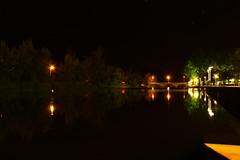 Sor iluminado (JoFigueira) Tags: nightphotography bridge trees light luz portugal rio night river stars estrelas ponte noite alentejo reflexo rvores mirroreffect portalegre pontedesor reflectionoflight riosor ribeiradesor