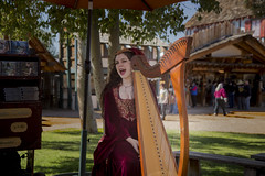 Woman  Singing and playing Harp  at Renaissance Festival Arizona (Largeguy1) Tags: portrait canon women mark iii 5d approved