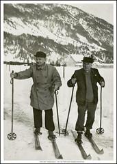 1934 S 2607  Kranjska gora 9. I. 1934. Ivan Tkalčić vlasnik fotografije na slici Božo Šuperina Ličer nepoznati ljudi?