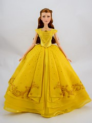 2017 Belle Limited Edition 17'' Doll - Live Action Film - US Disney Store Purchase - Deboxed - Standing - Full Front View (drj1828) Tags: us disneystore purchase liveactionfilm limitededition belle ballgown yellow le5500 2017 deboxed review