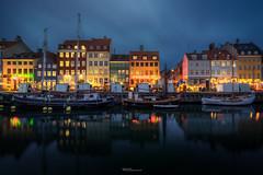 Nyhavn (martin.matte) Tags: night city cityscape lights water reflection copenhagen københavn kopenhagen europe nyhavn historic building tourist