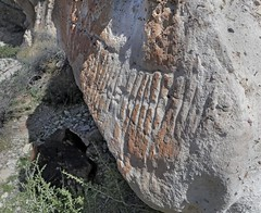 Petroglyph / Emigrant Spring Site (Ron Wolf) Tags: anthropology archaeology deathvalleynationalpark emigrantcanyon nationalpark nativeamerican abstract desert parallellines petroglyph rockart california