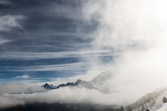 Clouds are simply water vapor (ignacy50.pl) Tags: mountains alps france sky clouds sun light fog landscape snow winterlandscape highmountains canon ignacy50 outdoor