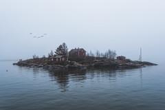Misty Archipelago (MattiBo) Tags: island mist moody morning spring cold sea seascape house trees finland suomi helsinki suomenlinna scandinavia nikon d750