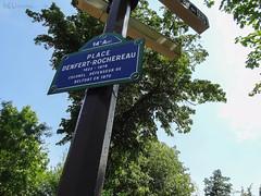 Place Denfert-Rochereau signpost (eutouring) Tags: paris france travel placedenfertrochereau square sign signpost signs