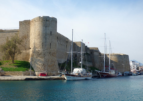 Girne - castle from harbour channel (3)