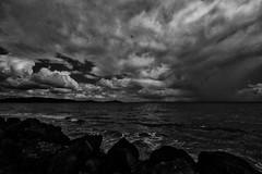 Heavy clouds (Jaime Recabal) Tags: canon blackandwhite 40d blancoynegro monochrome recabal humacao mar nubes clouds puertorico photo photography