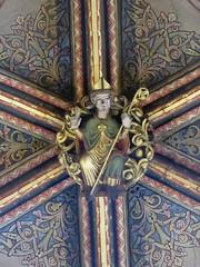 Medieval Bishop, Worcester Cathedral (Aidan McRae Thomson) Tags: worcester cathedral worcestershire medieval roofboss bosses carving sculpture
