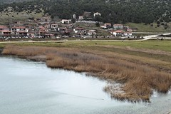 Fishing Village CSC_2732 (joanna papanikolaou) Tags: lake lakescape lakescenery scene scenery scenic lakes lakeshore shore village greece travel prespes macedonia view panoramic reeds buildings houses architecture picturesque