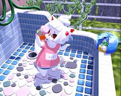 Hot (Yukiterudiary) Tags: tamagosenbei gacha garden sl second life icecream hot bubbles meso avatar mesh cute kawaii