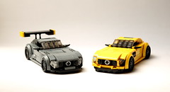 Two cars (RGB900) Tags: lego supercars mercedes amg mercedesbenz