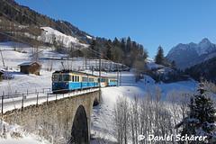 ABDe 8/8 4004 (Daniel Schärer) Tags: rossinière mob abde88 4004 triebwagen viadukt pont t des cheoalets