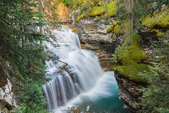Upper Falls in Johnston Canyon, between Banff and Lake Louise, Alberta, Canada (BCVacation) Tags: upperfalls johnstoncanyon banff lakelouise alberta canada