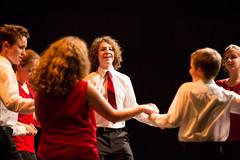 Members of Brìgh, including from left, Cullen MacInnis, Stephen MacIntyre and Elizabeth MacInnis perform a dance number. (photo: Steve Wadden)