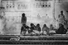 Into the dust (Feca Luca) Tags: street reportage backlight blackwhite controluce people homeless monochrome india asia travel