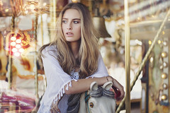 The carousel never stops turning. (Anastasia Vervueren) Tags: photography anastasiavervueren fashion carousel camillerochette portrait lights bokeh