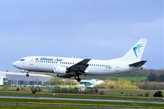 YR-BAP BOEING 737-3YO (douglasbuick) Tags: aircraft boeing b737300 yrbap blue air romanian jet plane egpf glasgow airport aviation scotland flickr airliner airlines airways nikon d3300