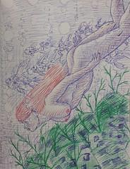 Ruiva Nadando (EviLNooB1) Tags: mulher woman redhead ruiva nadando swimming mar sea