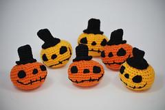 Calabazas Halloween (La Borda del Crochet) Tags: amigurumis ganchillo dropssafran algodón crochet handmade