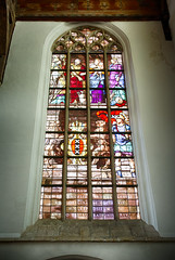 Windows at the Oude Kerk (JCTopping) Tags: oudekerk colors stainedglass netherlands hdr amsterdam windows noordholland nl holland 6d 40mm canon