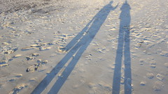 Long Shadows (Mamluke) Tags: tybeeisland tybee island beach shore coast coastal georgia tybeeislandgeorgia mamluke sand ocean sea atlanticocean long shadows us sandy footprints