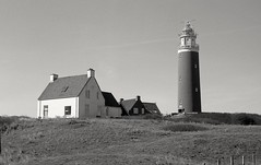 * (Johuhe) Tags: lighthouse beach coast dunes houses landscape netherlands dutch holland texel leica m2 summaron 35mm kodak tmax 100 xtol monochrome black white bw home developed analog film epson v500