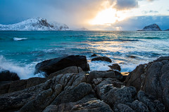 """Sunset in Lofoten • <a style=""""font-size:0.8em;"""" href=""""http://www.flickr.com/photos/126602711@N06/33509452331/"""" target=""""_blank"""">View on Flickr</a>"""