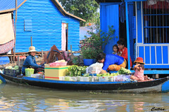 Floating market - Cambodia (cattan2011) Tags: cambodia travelblogger travelphotography traveltuesday streetpicture streetart streetphoto streetphotography floatingmarket landscapeportrait landscapephotography landscape