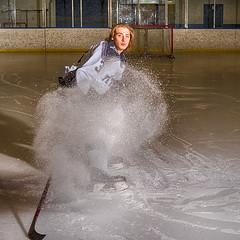 _DSC4871 Hockey Portrait (Charles Bonham) Tags: hockey hockeyplayer skate ice blueline goal hockeystick snow sonya7r sonyzeiss55mmf18 charlesbonhamphotography