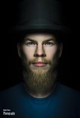 Face (salas-3) Tags: face portrait man one headshot hat people light studio videolighting concept dark beard photography photographer studioart 50mm d750