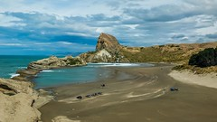 Castlepoint beach (Locomotive-DXC New Zealand) Tags: castlepoint is small beachside town wairarapa coast wellington region new zealand it home lighthouse which stands near top northern end reef the about one kilometer long