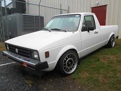 1980 Volkswagen Rabbit Pickup (splattergraphics) Tags: 1980 volkswagen rabbit pickup truck vw volksrod carshow carlisle fallcarlisle carlislepa