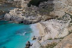 Feeling small on Spiaggia di Porto Miggiano (Tim&Elisa) Tags: puglia turquoise spiaggiadiportomiggiano spiaggia portomiggiano italy salento mediterraneansea water beach sand rocks longexposure