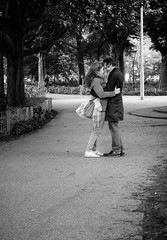 Embrace in the Park (1mpl) Tags: olympusomd1 holland amsterdam travelphotography streetphotography niksilverefexpro bw monochrome