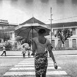 A Brolly On The Walk. #analog #film #street #photography #IlfordDelta #PentaxPZ1 #georgetown #guyana thumbnail