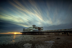 Weston-s-Mare Grand Pier (modulationmike) Tags: pier long exposure nikon wideangle sunset colour sand clouds movement reflections filters 10stop beauty